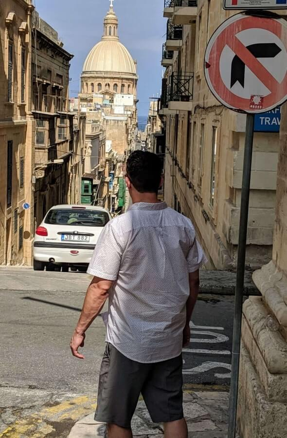 Me wearing O'Neill Hybrid Board Shorts in Malta