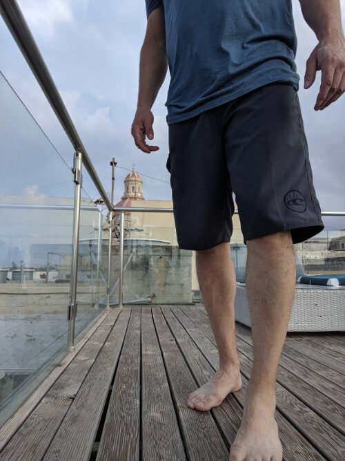 Wearing my O'Neill Men's Santa Cruz Board Shorts in Malta